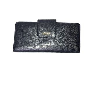 Fossil wallet. Bifold. Black leather.